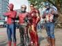 Fotoshooting mit Avengers live- Kinderfest im Hauptbahnhof Heidelberg 2016