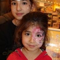 Kinderschminken Weihnachten, Kaufhof Mannheim (25)