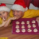Backen mit Kindern - Schneemann Weihnachtskekse