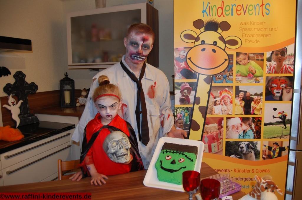 Frankenstein Kuerbiskuchen - Halloween Party