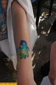 Glitzer Tattoos Kindergeburtstag Mannheim