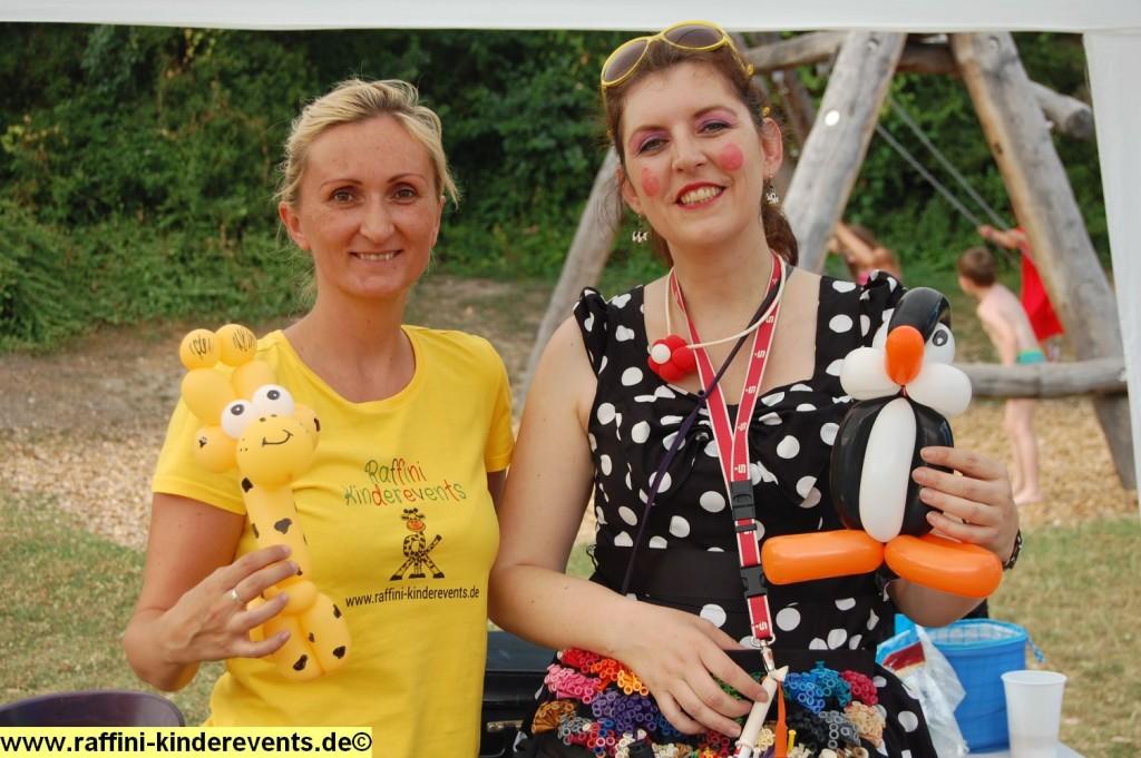 Kinderfest-Ballon Modellage Kuenstlerin