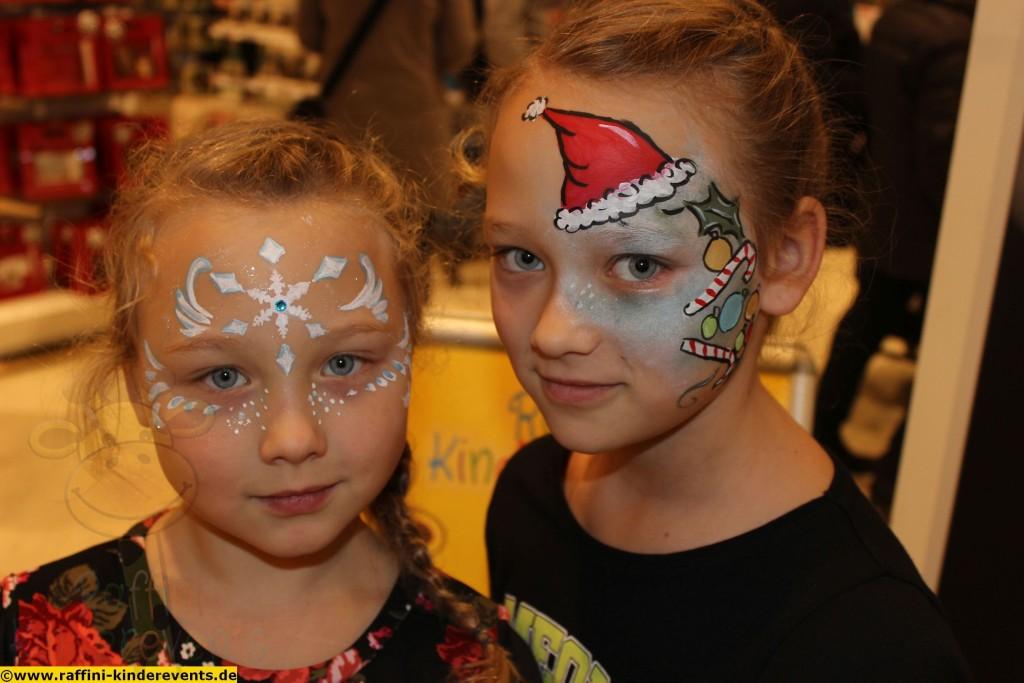 Kinderschminken Weihnachten, Kaufhof Mannheim (