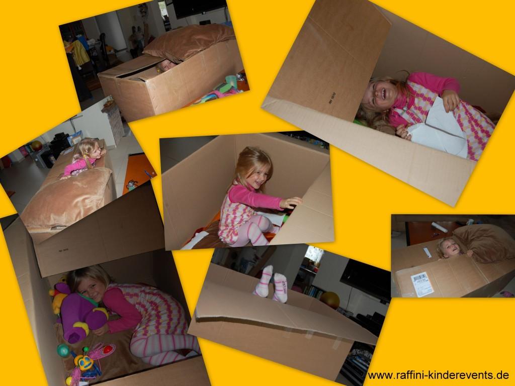 Maja und Karton Haus