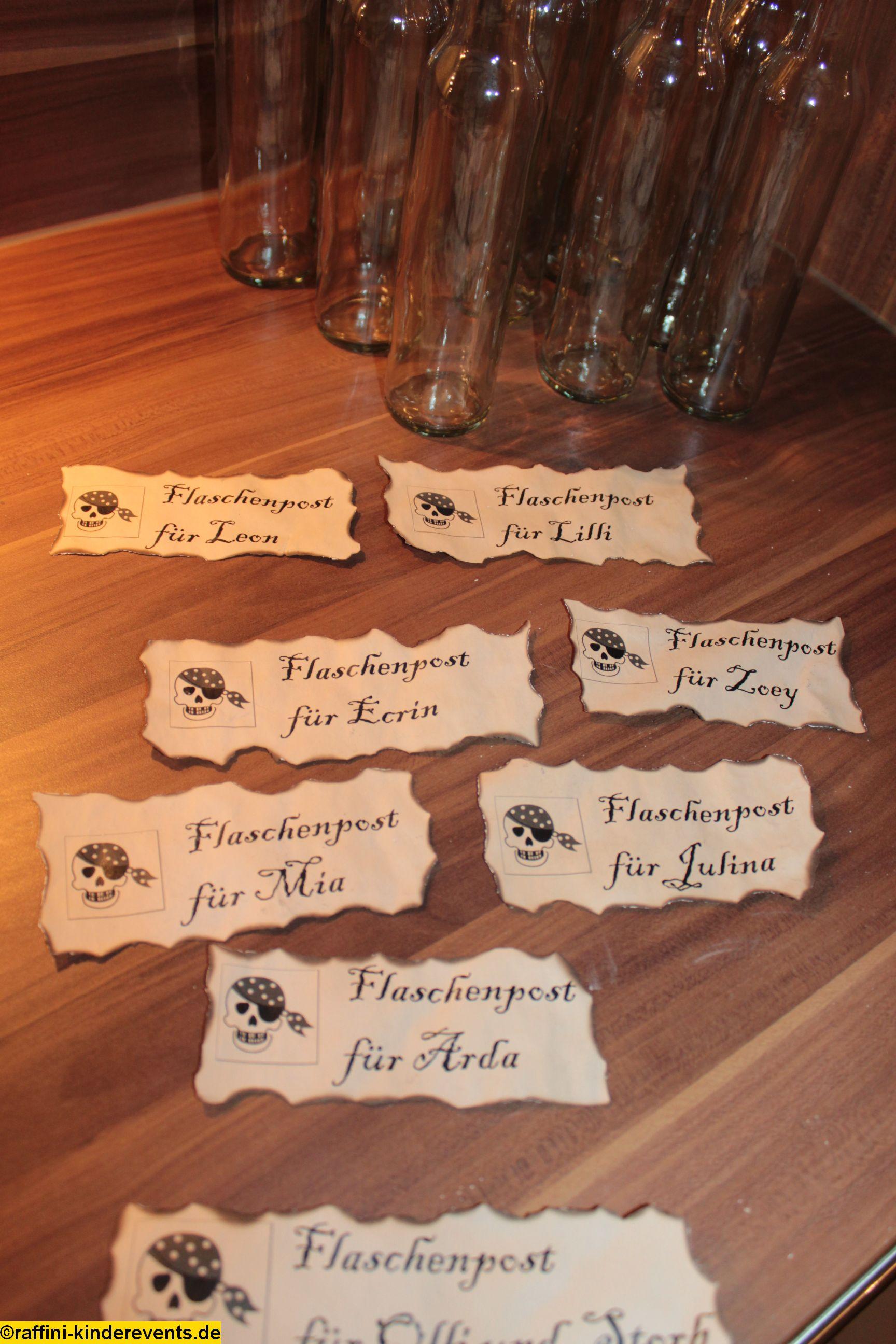 Piratenparty Kindergeburtstag Einladungen machen (9 ...