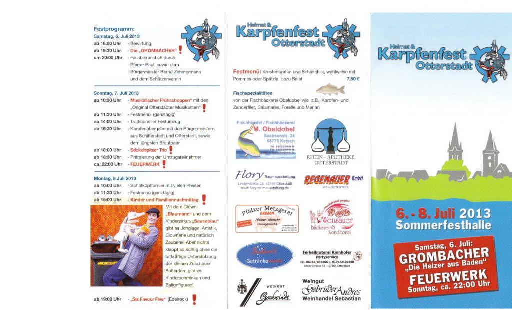 Programm Karpfenfest - Otterstadt-06-08 Juli 2013