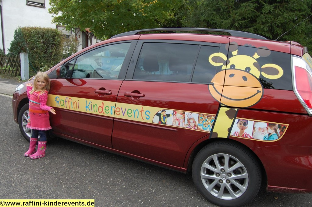 Raffini Kinderevents - Autowerbung