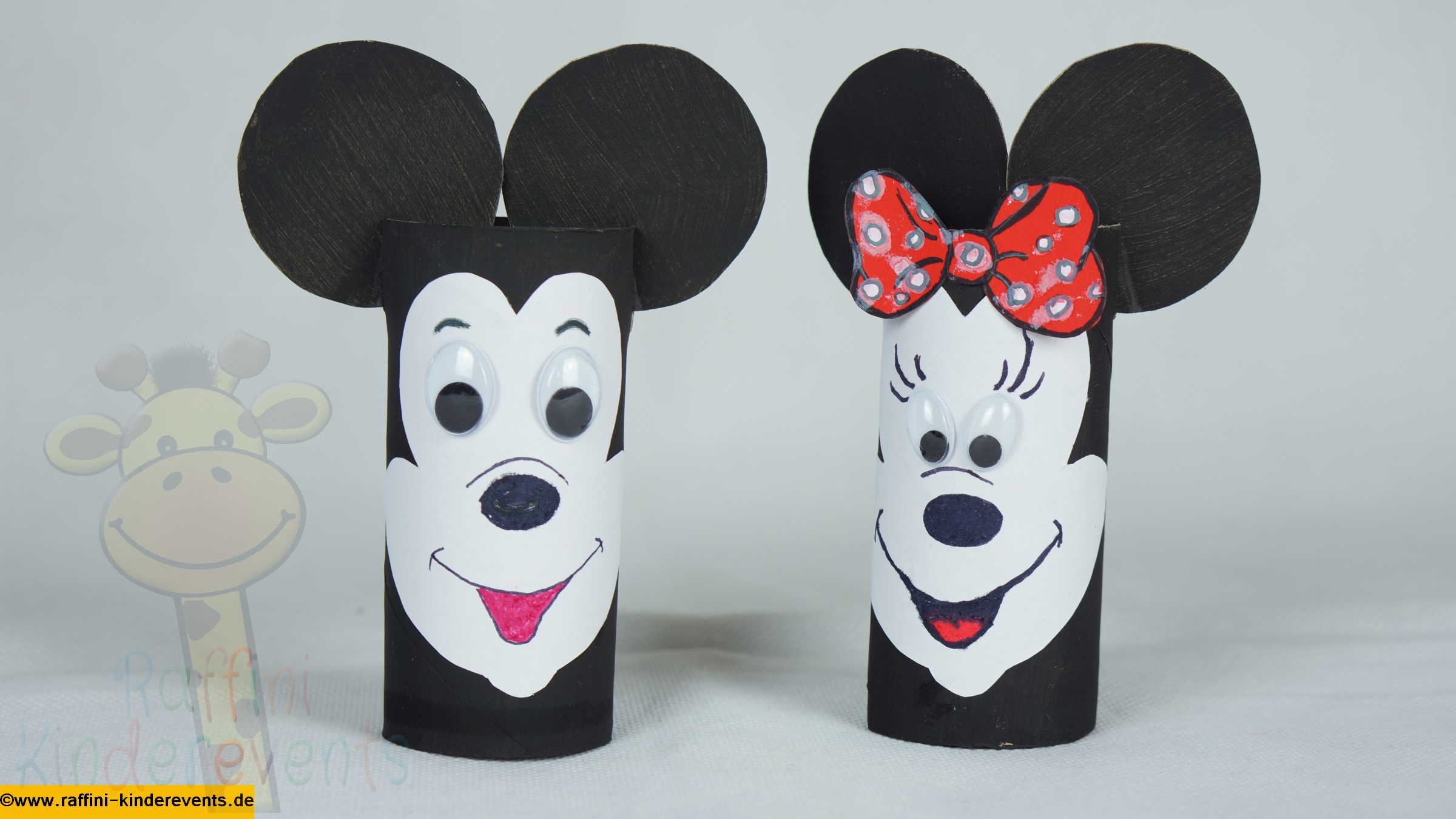 recycling basteln fuer kinder mickey mouse 01 raffini. Black Bedroom Furniture Sets. Home Design Ideas