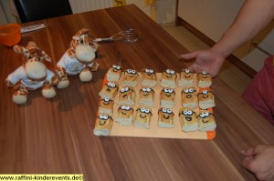 Backen fuer Kinder - Minions Muffins